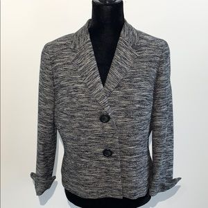 Talbots 12P cuff sleeves cropped tweed jacket